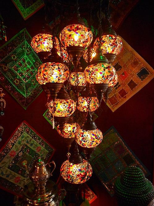 Lámpara turca de colgar 15 globos
