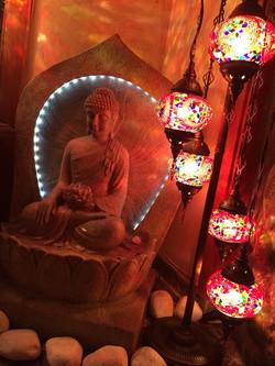 Fuente de agua Buda
