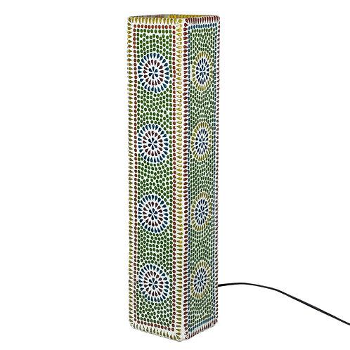 Lámpara de mesa con dibujo de mosaicomulticolor