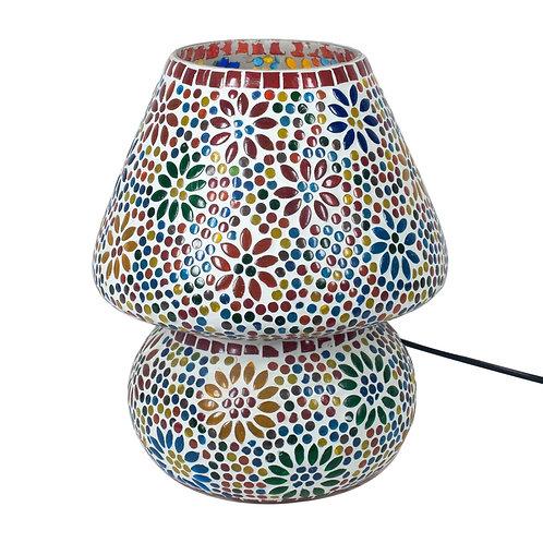Lámparade mesa con dibujo de mosaico