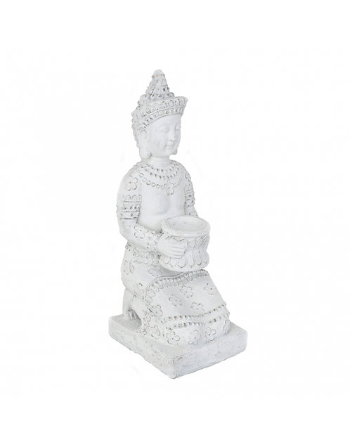 Figura de Buda, color blanco