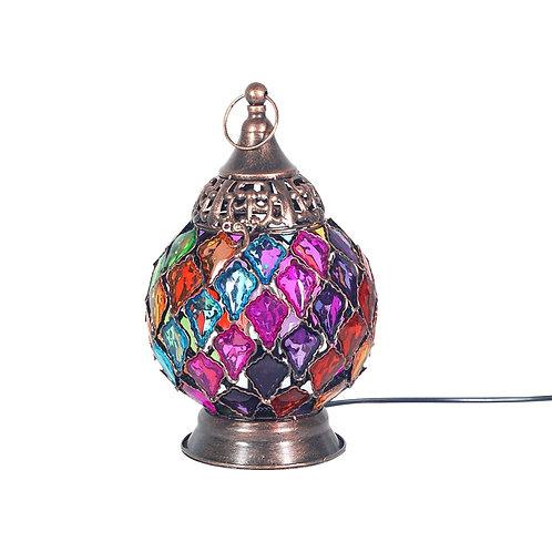 Lámpara de sobremesacon piedras multicolor
