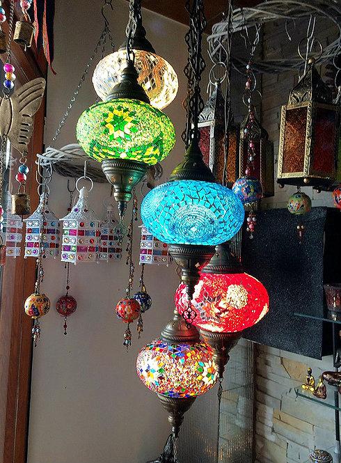 Lámpara de colgar 5 globos