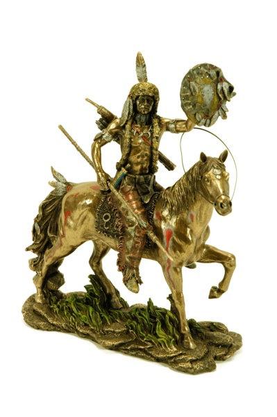 Figura de indio cheyenne montado a caballo