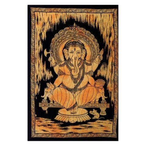 Tapiz Ganesha 110 cm