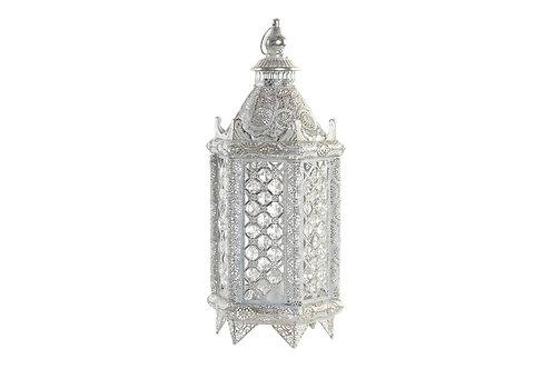Lámpara de estilo árabe de sobremesa, color blanco.