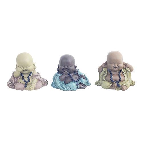 """Surtido de 3 figuras niños monjes """"No ver"""" - """"No oir"""" - """"No hablar"""""""