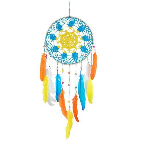 Atrapasueños con plumas de color