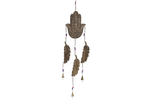 """Colgante móvil decorativo """"Mano de Fatima"""" con hojas"""
