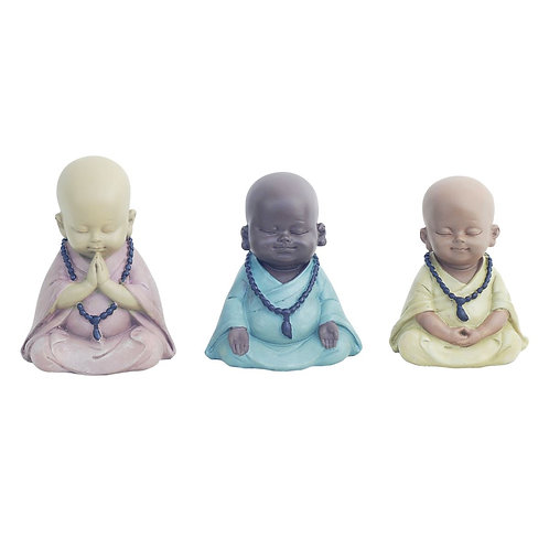 Surtido de 3 figuras niños monjes