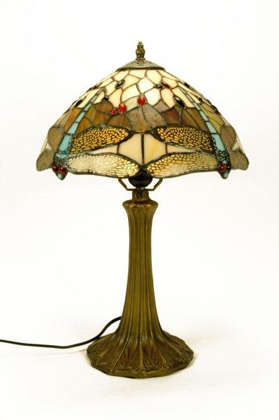 Lámpara de sobremesa libélulas estilo Tiffany