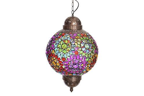Lámpara de techocon piedras multicolor