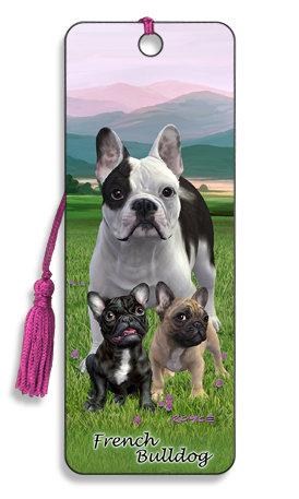 Punto de Libro 3D French Bulldog