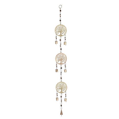 """Colgante móvil decorativo """"Árbol de la Vida"""" con campanas"""