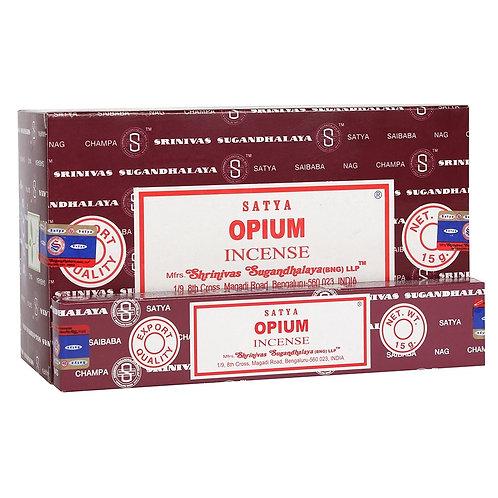 Incienso Opium  Fabricado en India  Shirinivas Sugandhalaya Satya