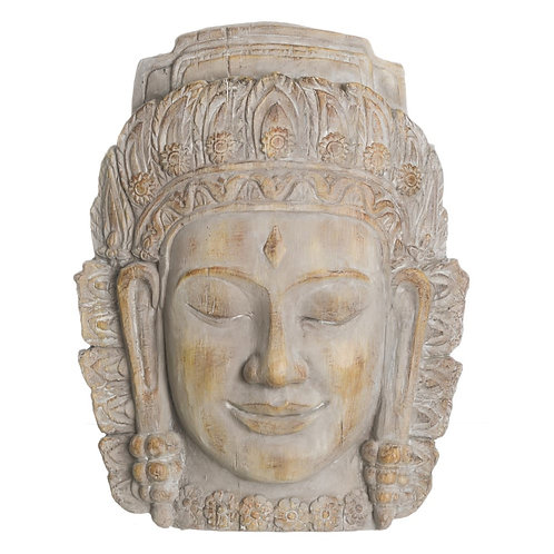Figura de cabeza Buda madera