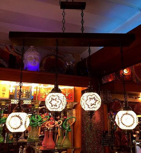 Lámpara turca de colgar 4 globos