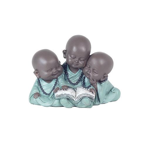 FiguraNiños monjescon libro