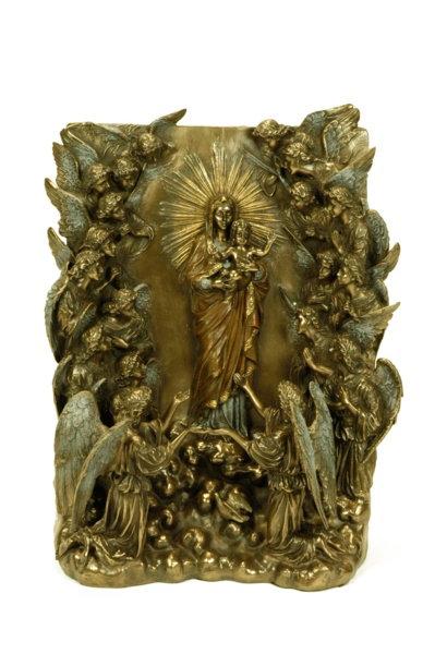 Figura retablo Virgen con Niño y ángeles