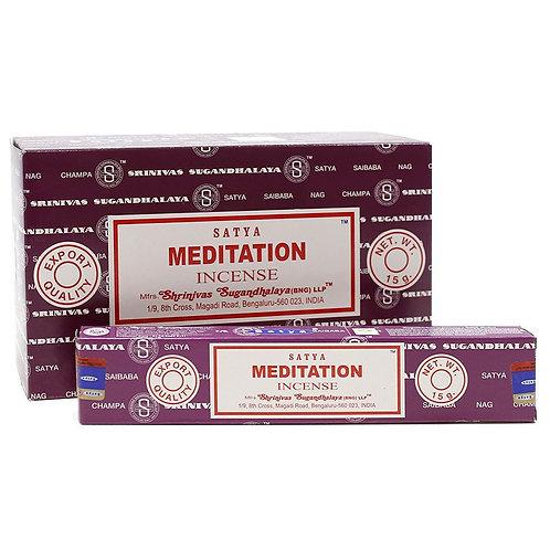 Incienso Meditation  Fabricado en India  Shirinivas Sugandhalaya