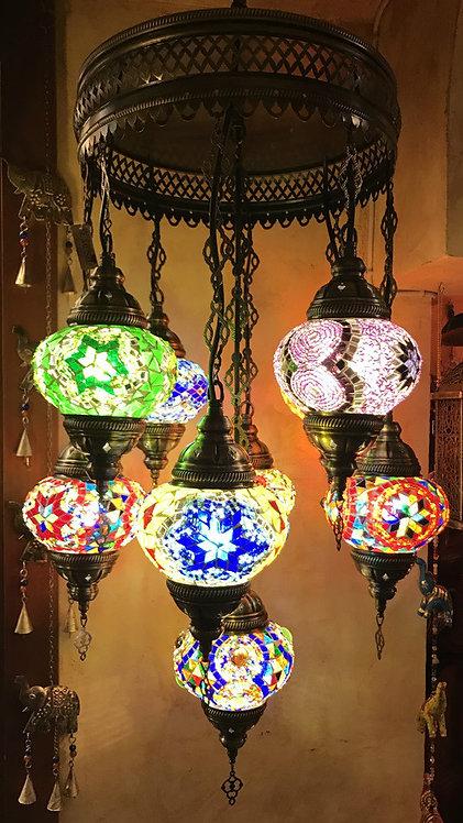 Lámpara turca de colgar 9 globos