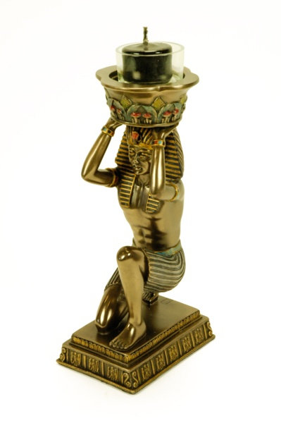 Figura Portavelas Faraón