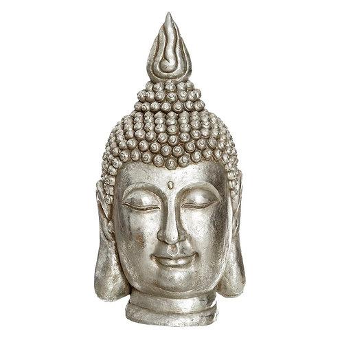 Figura de cabeza Buda, color plata