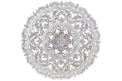 Talla de maderacolor blanco envejecido