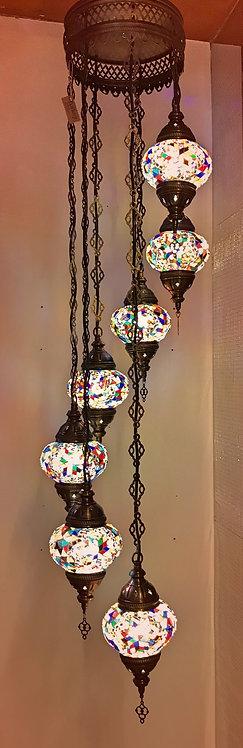 Lámpara turca de colgar 7 globos