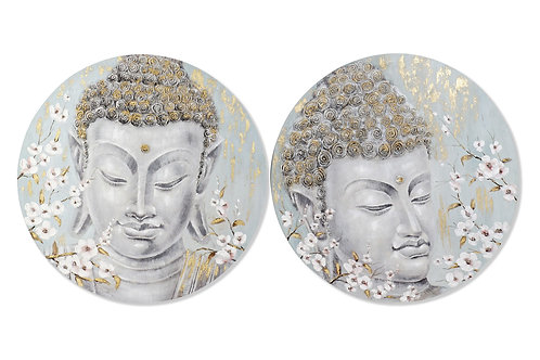 Surtido de 2 cuadroscon imagen de Buda