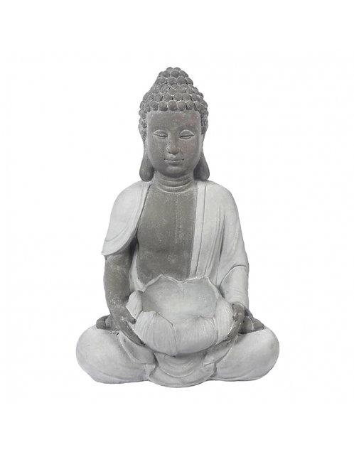 Figura de Buda sentado, color gris 57 cm