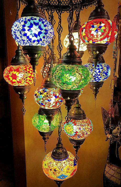 Lámpara de colgar 13 globos