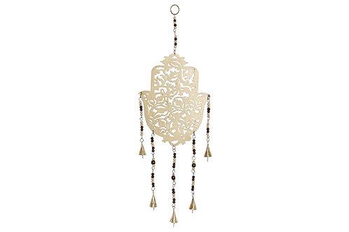 """Colgante móvil decorativo """"Mano de Fatima"""" con campanas HAMSA ENVEJECIDO"""