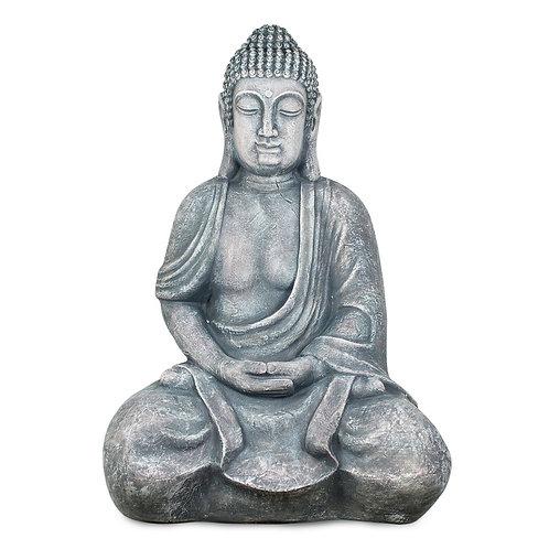 Figura de Buda grande, color gris