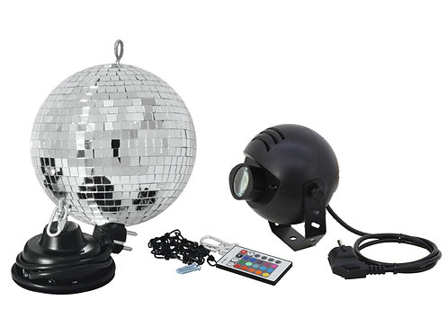 Set Bola Espejos LED 20 cm