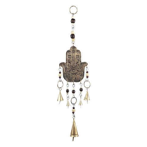 """Colgante móvil decorativo """"Mano de Fatima"""" con campanas"""