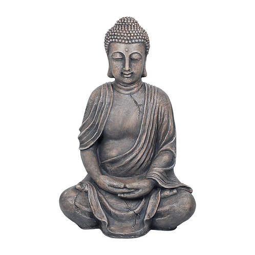 Figura de Buda grande, color gris 100 cm