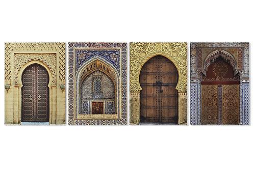 Surtido de 4cuadroscon imagen de puerta árabe