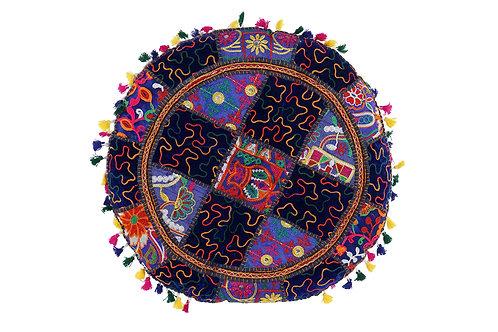 Cojín yoga patchwork redondo