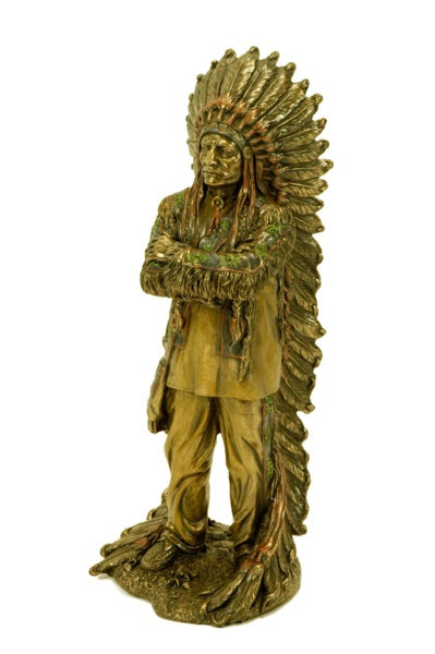 Figura de jefe indio Toro Sentado