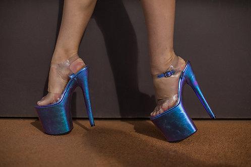 Sandália Em Couro Cristal Glow