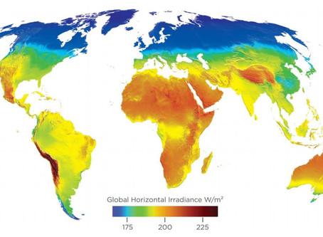 Potencial solar del mundo.