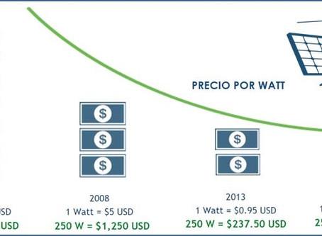Los paneles solares son cada vez más accesibles.