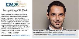 2020 - CSA Webinar - Panel with Daniele - CTO CSA Globla