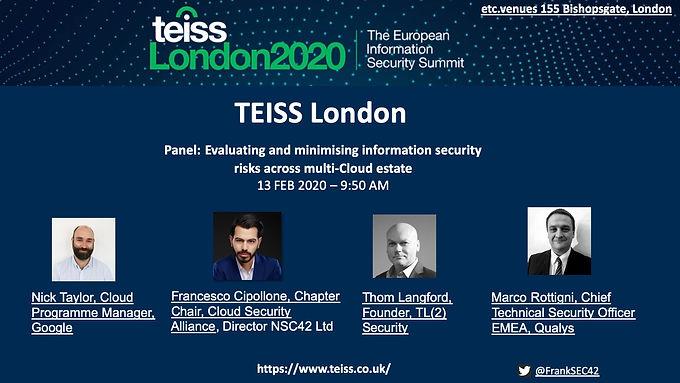 2020 - TEISS London
