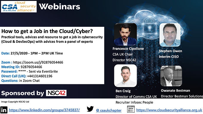 2020 - CSA Webinar - Jobs in Cyber