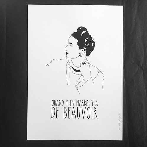 Affiche Simone De Beauvoir