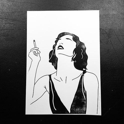 Affiche La Fumeuse