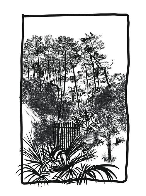 Affiche jardin Landais