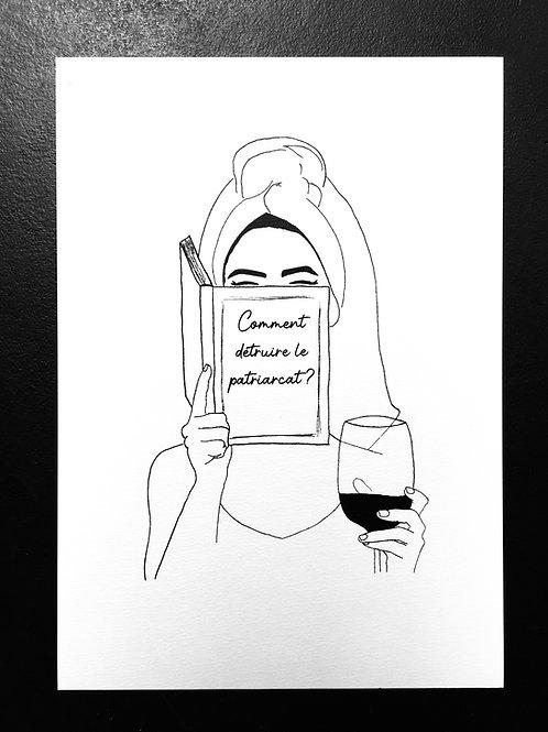 Affiche la lectrice